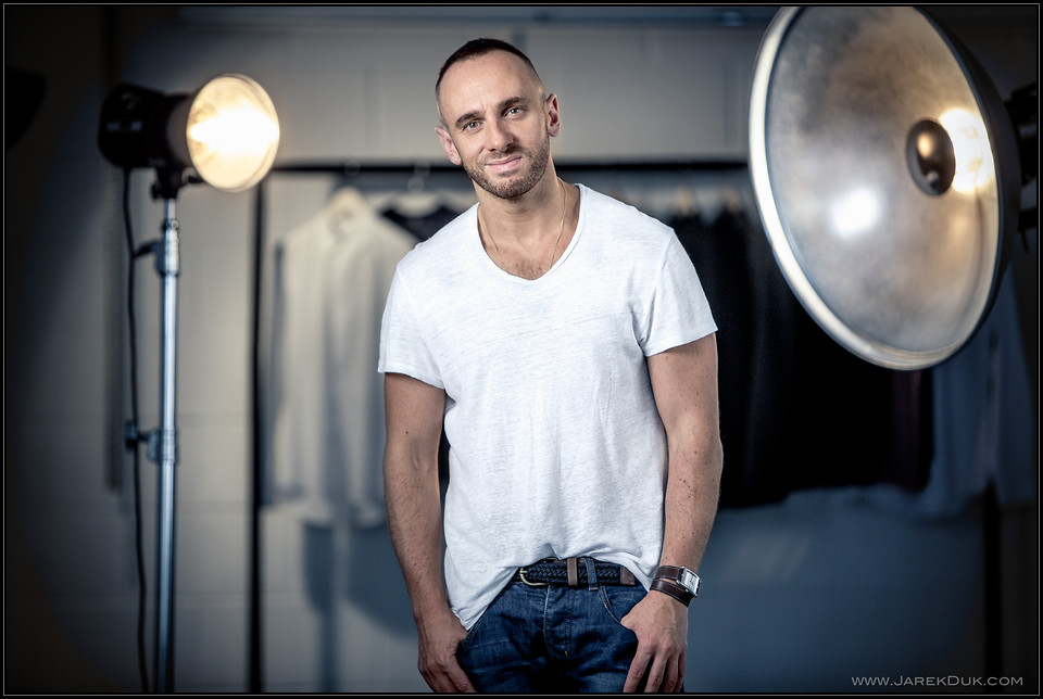 Celebrity portrait London - Mark Heyes. ITV presenter, author, fashion guru.