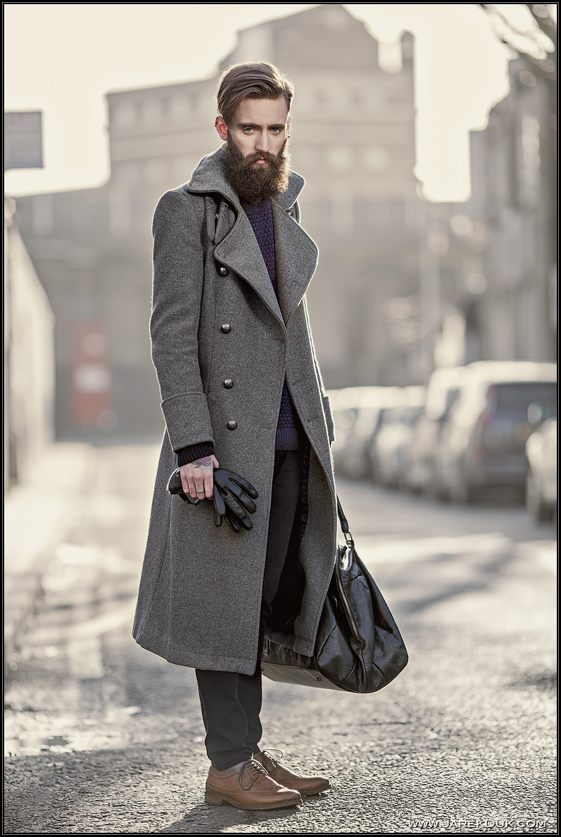 fashion editorial, fashion photography London, men's fashion, winter collection, moody, intense
