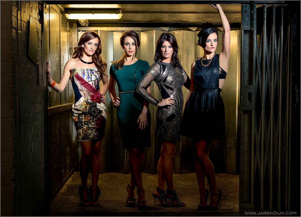 B*Witched Big Reunion photo shoot. Keavy Lynch, Lindsay Armaou, Sinéad O'Carroll, Edele Lynch. Music photography London.
