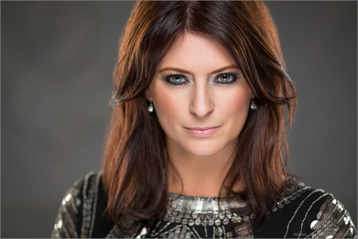 B*Witched Big Reunion photo shoot. Sinéad O'Carroll, celebrity portrait, singer headshot.