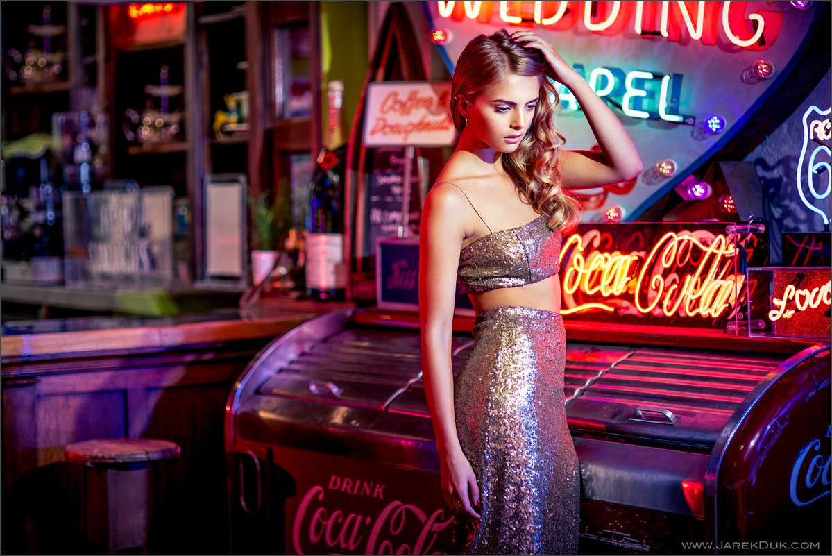 Fashion photography London, photo by fashion photographer London Jarek Duk. World of Neons.