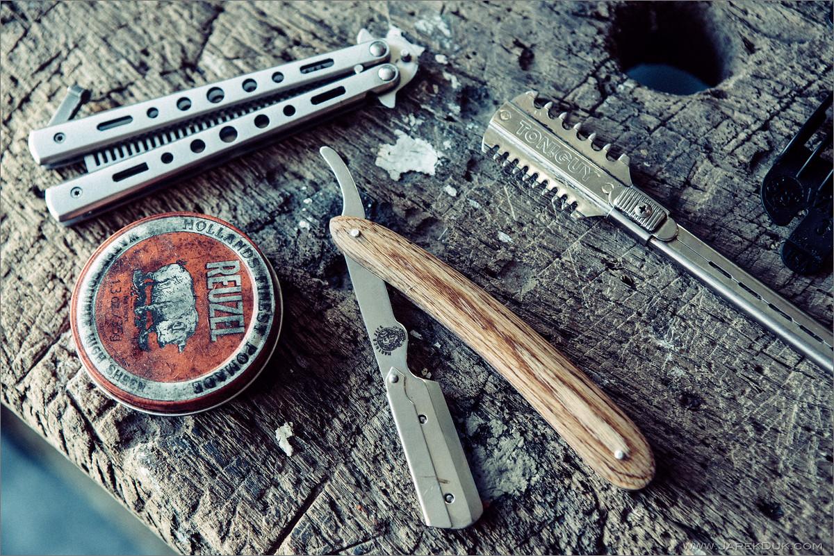 Old school barber tools.