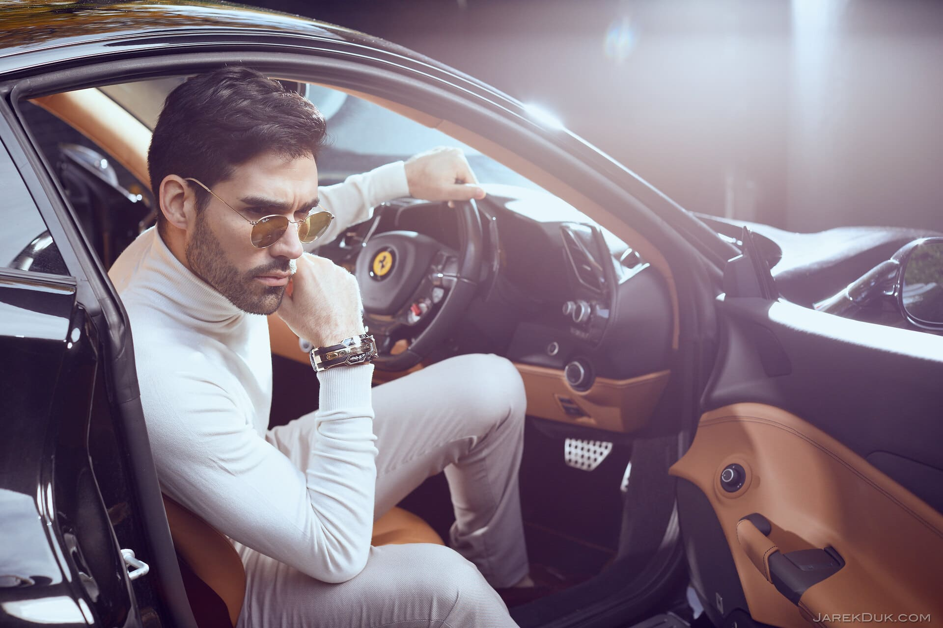 Fashion Photographer London Luxury Fashion Ferrari Driver