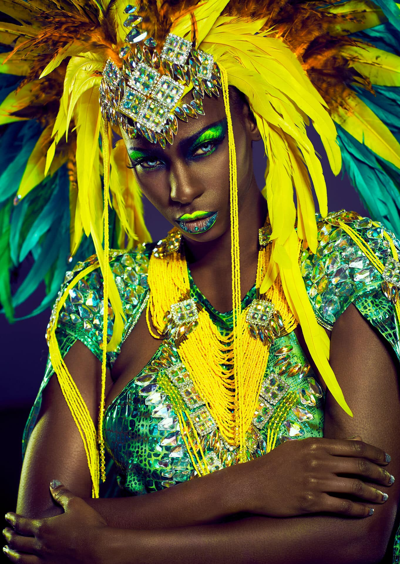 Fashion Campaign Photography London. Carnival costume. Photo by Jarek Duk